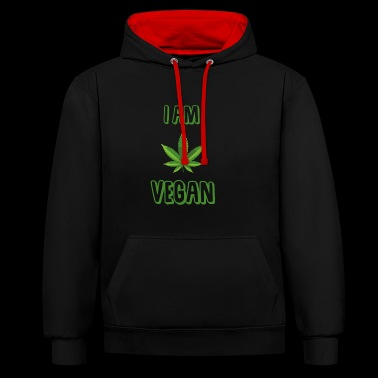 I am Vegan - Sweat-shirt contraste