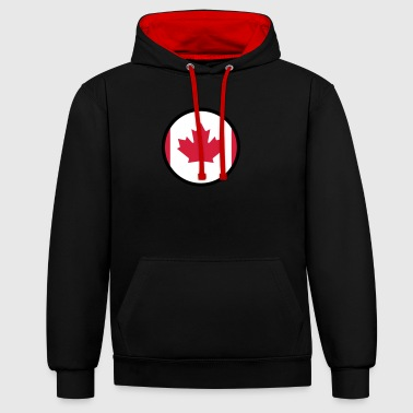 Under The Sign Of Canada - Contrast Colour Hoodie