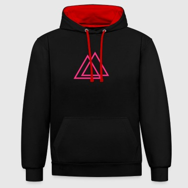 Triangle illusion Hipster Triangle 1c - Sweat-shirt contraste