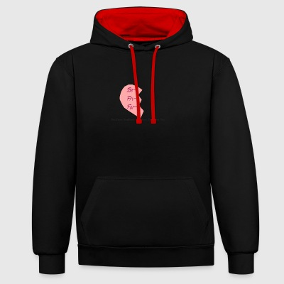 heart - Contrast Colour Hoodie