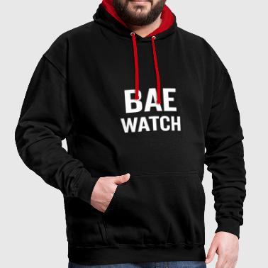 Bae Watch White - Contrast Colour Hoodie