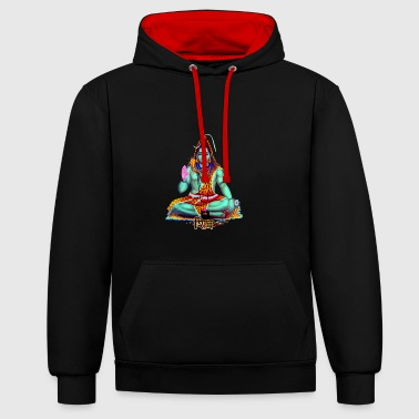 shiva - Contrast Colour Hoodie