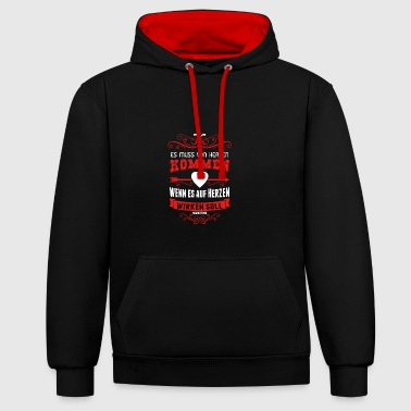 Marketing - Kontrast-Hoodie