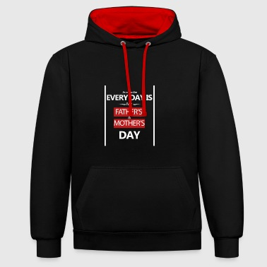 Mothers day-mothersday-fathers-day - Contrast Colour Hoodie