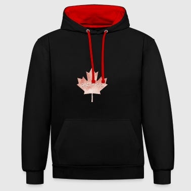 Ontario Maple Leaf - Contrast Colour Hoodie