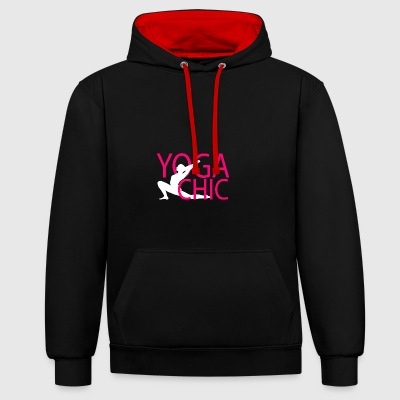Yoga Chic - Contrast Colour Hoodie