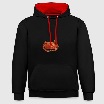 Red crab - Contrast Colour Hoodie