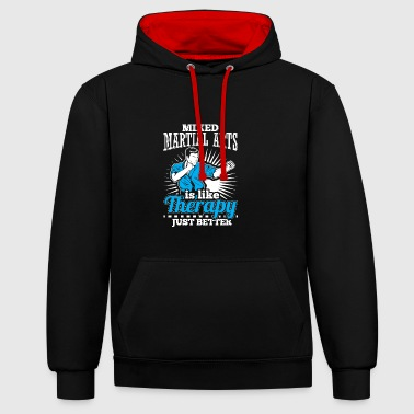 MMA THERAPY - Kontrast-Hoodie