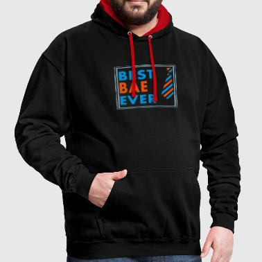 BEST BAE EVER! - Contrast Colour Hoodie