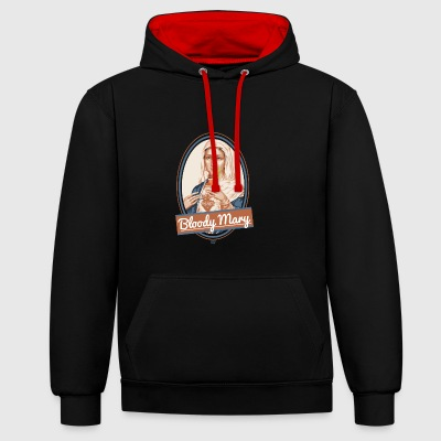 Bloody Mary and drink - Contrast Colour Hoodie