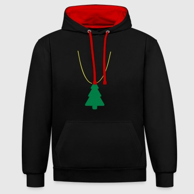 Xmas swag: Christmas tree - Contrast Colour Hoodie