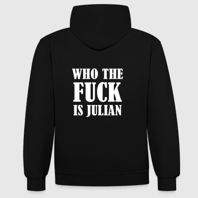 WHO THE FUCK IS JULIAN - Kontrast-Hoodie