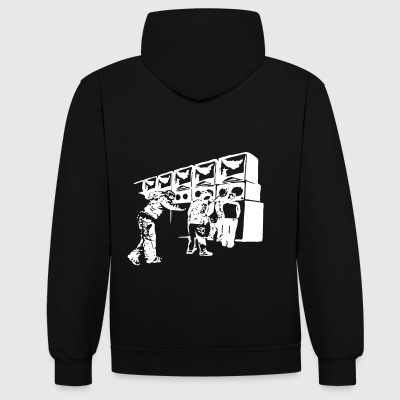 soundsystem 23 - Contrast hoodie