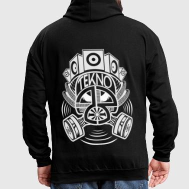 Tekno 23 gas mask - Contrast Colour Hoodie