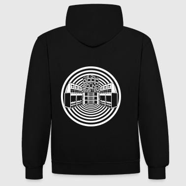 THE ONLY GOOD SYSTEM IS A SOUNDSYSTEM - Kontrast-Hoodie