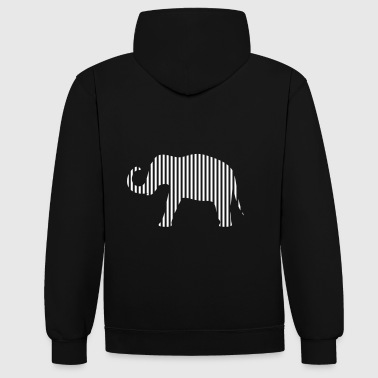 Elephant en bandes - Sweat-shirt contraste