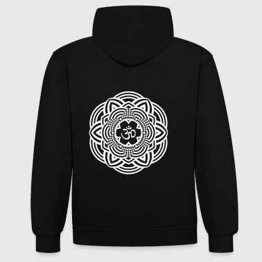 om mandala - Sweat-shirt contraste