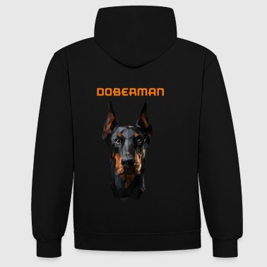 DOBERMAN - Sweat-shirt contraste
