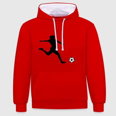 women's soccer - Contrast Colour Hoodie