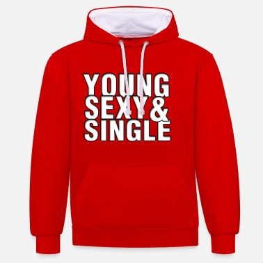 Young Money Young Sexy & Single Aufdruck - Kontrast-Hoodie
