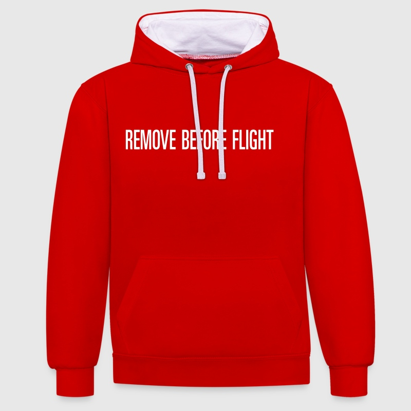 REMOVE BEFORE FLIGHT - Sweat-shirt contraste