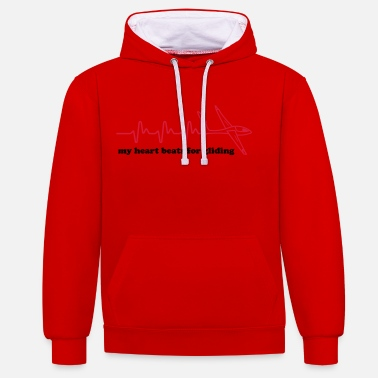 Glide Heartbeat glider gift gliding - Contrast Colour Hoodie
