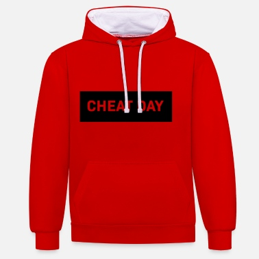 Cheat Cheat Day - Contrast Colour Hoodie