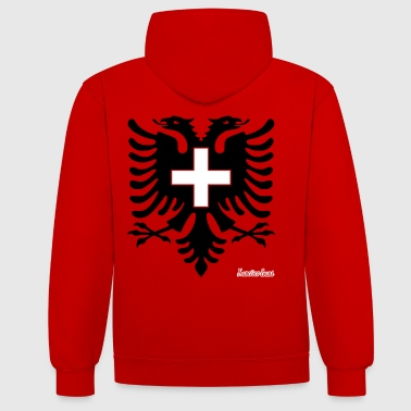 Albania Switzerland Francisco Evans ™ - Contrast Colour Hoodie