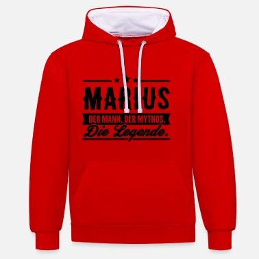 Marius Man Myth Legend Marius - Sweat-shirt contraste