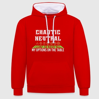 Chaotique Neutre Je garde tout mon cadeau d'options - Sweat-shirt contraste