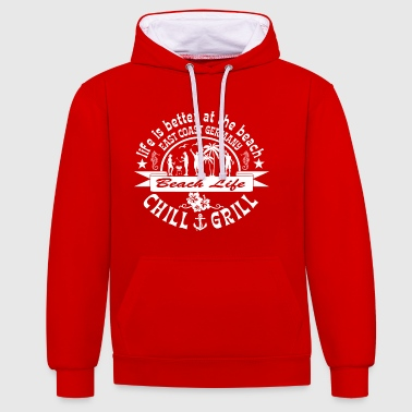 Chill Grill East Coast - Contrast Colour Hoodie