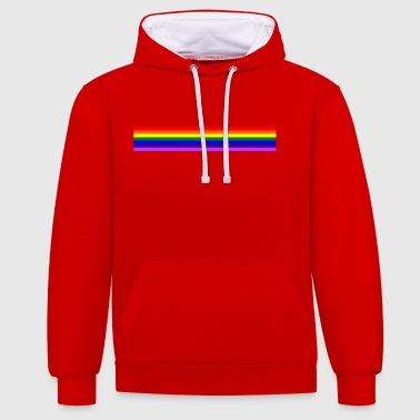 Band Band rainbow / rainbow band - Contrast Colour Hoodie