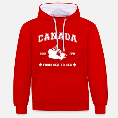 Canada Canada map - Contrast Colour Hoodie