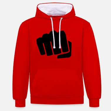 Fist fist - Contrast Colour Hoodie