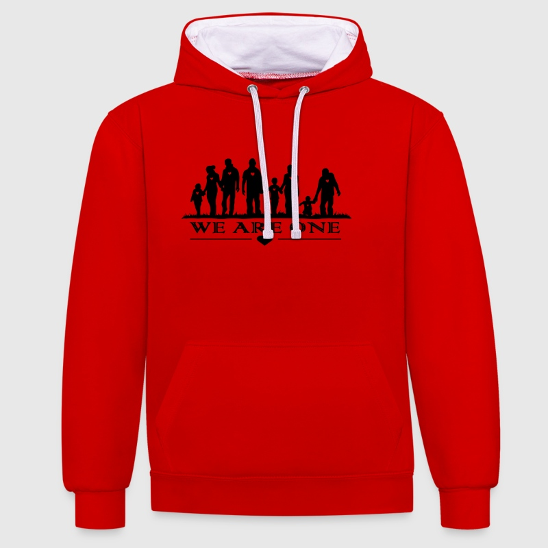 WE ARE ONE - Contrast Colour Hoodie