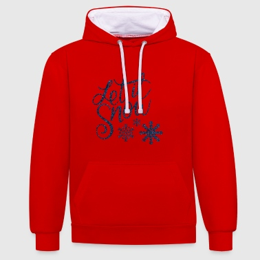 Let it snow - Kontrast-Hoodie