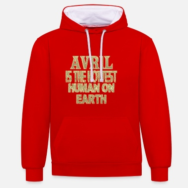 Avril avril - Sweat-shirt contraste