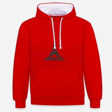 Eiffel Tower Eiffel Tower - Contrast Colour Hoodie