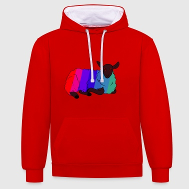 Spectrum Sheep - Contrast Colour Hoodie
