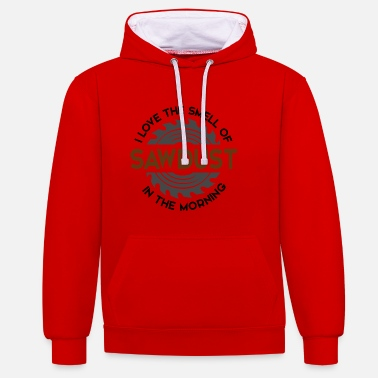 Smell The Smell Of Sawdust In The - Contrast Colour Hoodie