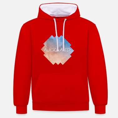 Auckland Auckland - Contrast Colour Hoodie