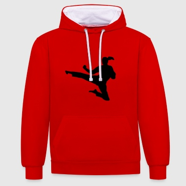 Martial Arts - woman - Contrast Colour Hoodie
