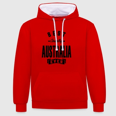 AUSTRALIE - Sweat-shirt contraste