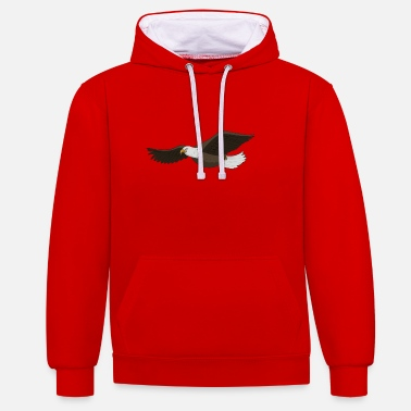 Bald Eagle Bald eagle - Contrast Colour Hoodie