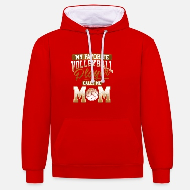 Volley Ball Volley Ball Player Mum Gift - Contrast Colour Hoodie