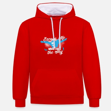 Skydiving Skydiver Skydiver Gift Idea - Contrast Colour Hoodie