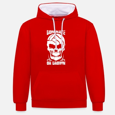 Waterpolo Waterpolo domineren of verdrinken schedel - Contrast hoodie