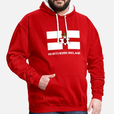Northern Ireland Northern Ireland flag - Contrast Colour Hoodie