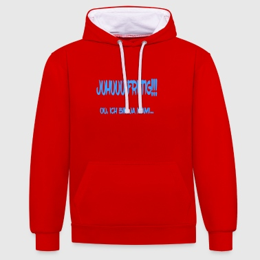 Switzerland Swiss mommy mother funny dad gift - Contrast Colour Hoodie