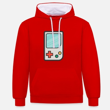 Handheld Game Console Nerd Freak Gift Geek - Contrast Colour Hoodie
